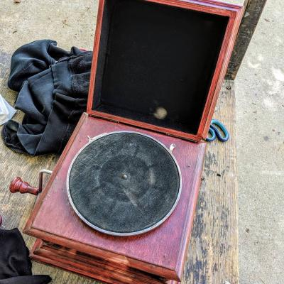 The Record Player in The Royale