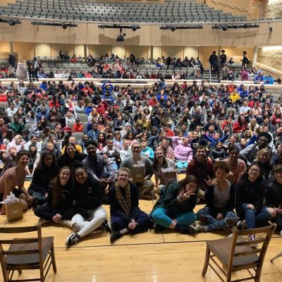 A high school audience and the National Players