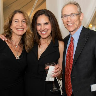 OTC Board member Suzanne Glassman with her husband Bruce Glassman and Karen Schupak