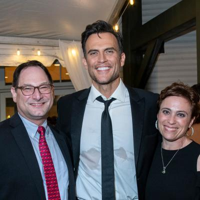 OTC's Artistic Director Jason Loewith & Managing Director Debbie Ellinghaus with Cheyenne Jackson
