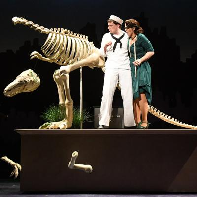 Sam Ludwig (Ozzie) and Rachel Zampelli (Claire De Loone) in Olney Theatre Center's production of ON THE TOWN. (Photo: Stan Barouh)