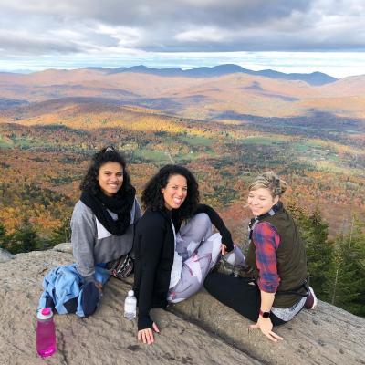 Miranda Pepin, Lisa, and Liz on a hike