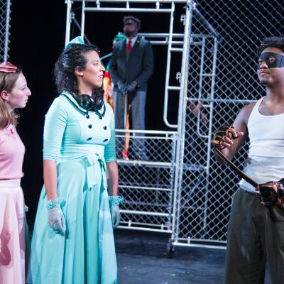 Emma Stern (Celia), Lisa Danielle Buch (Rosalind), and Cedrick L. Riggs, Jr. (Orlando) in National Players' AS YOU LIKE IT. (Photo: C. Stanley Photography)