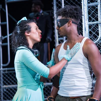 Lisa Danielle Buch (Rosalind) and Cedrick L. Riggs, Jr. (Orlando) in National Players' AS YOU LIKE IT. (Photo: C. Stanley Photography)