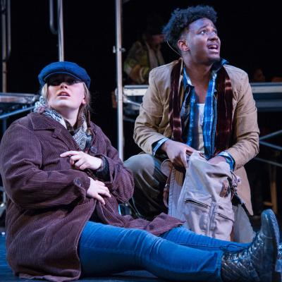 Anna J. Shafer (Adam) and Cedrick L. Riggs, Jr. (Orlando) in National Players' AS YOU LIKE IT. (Photo: C. Stanley Photography)