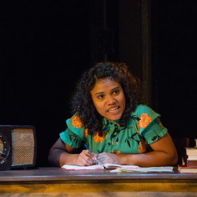 Miranda Pepin as Anne Frank in National Players' THE DIARY OF ANNE FRANK. (Photo: C. Stanley Photography)