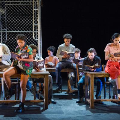 The ensemble of National Players in their production of THE DIARY OF ANNE FRANK. (Photo: C. Stanley Photography)