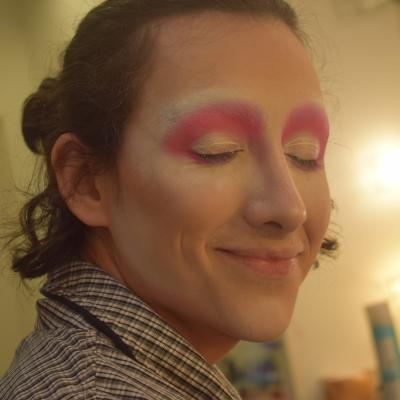 Next: add pink eye shadow to the lids with the Jeffree Star makeup palette