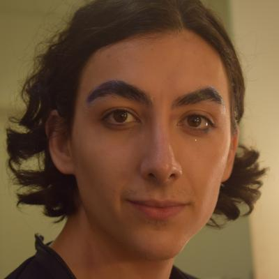 First step: three layers of glue on the eyebrows
