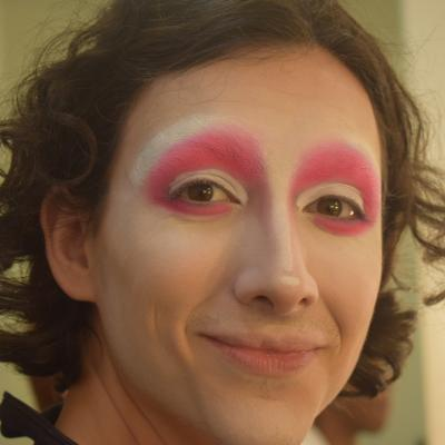 Another picture of the pink eyeshadow
