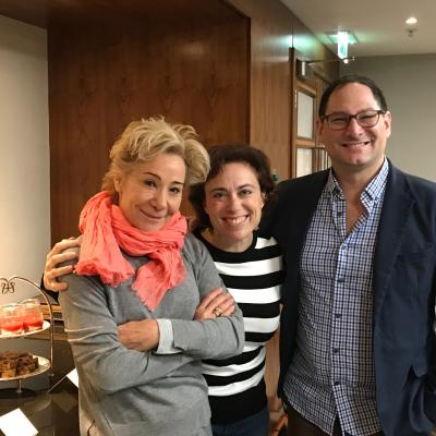 Zoe Wanamaker with Debbie and Jason