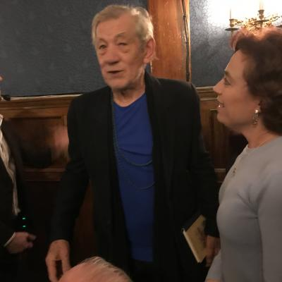 Ian McKellen with Debbie
