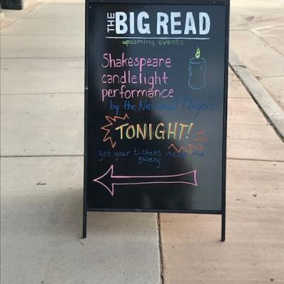 A photo of the sign for The Big Read