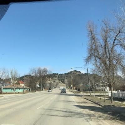 A photo of the road in Spearfish, SD
