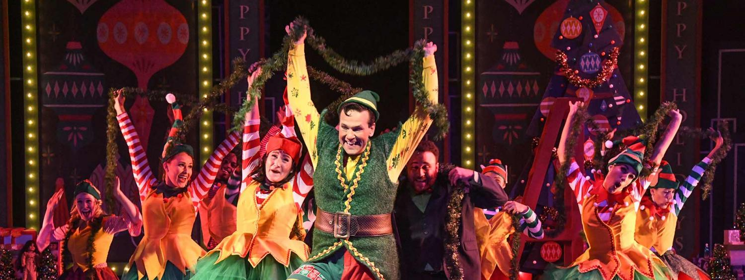 A production photo from Elf the Musical