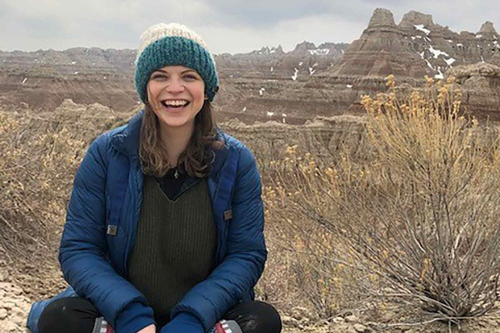 A photo of Jamie in the Badlands park
