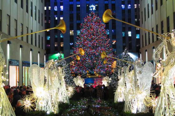 A photo of the Rockefeller Tree